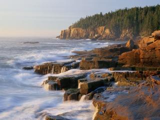 обои Otter Cliff, Acadia National Park, Maine фото