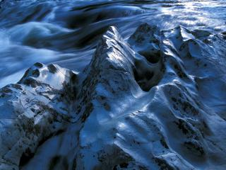 обои River-sculpted Rocks, Lower Rogue River, Oregon фото