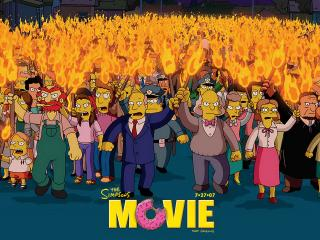 обои The Simpsons Movie сбор людей фото