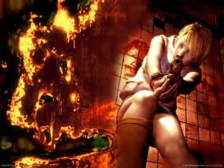 обои Героиня игры Silent Hill 3 стреляет фото