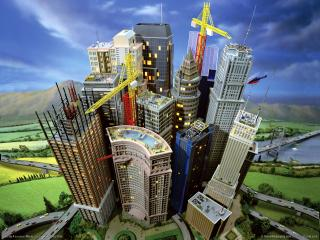 обои Город в игре SimCity 4 фото