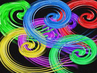 обои Разноцветные хвостики фото