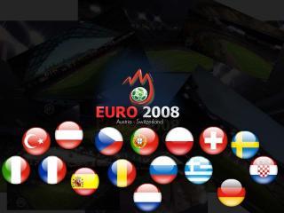 обои Евро 2008 - флаги фото