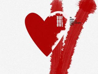 обои Do For Love - надпись на сердце фото