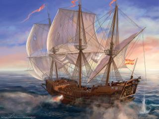 обои Sea Dogs - красивый корабль фото