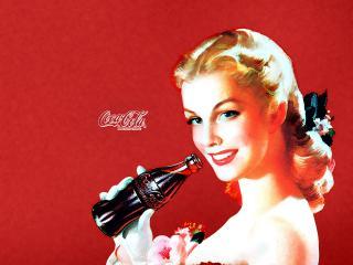 обои Coca-Cola в стиле ретро фото