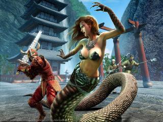 обои Everquest 2 - схватка фото