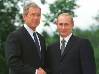 обои Буш-младший и Путин фото