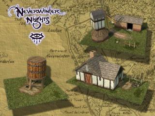 обои Neverwinter Nights - постройки фото