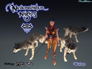 обои Neverwinter Nights - с волками фото