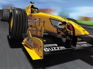 обои F1 Racing Championship - желтый болид фото