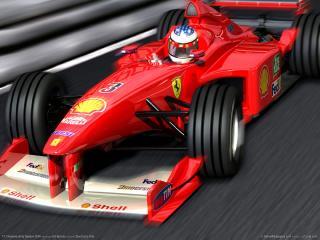обои F1 Championship Season 2000 - красный болид фото
