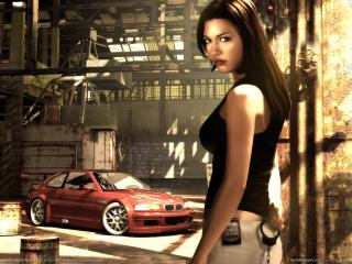 обои Need for Speed: Most Wanted - девушка фото