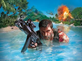 обои Far Cry - боец фото