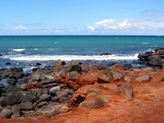 обои Вулканический берег фото
