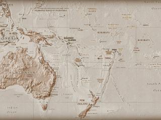 обои Карта Океании фото