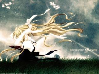 обои Высь(Air) - девушка со светлыми волосами фото