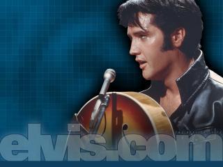 обои Elvis Presley с гитарой фото