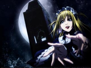 обои Death-Note - девушка в темноте фото