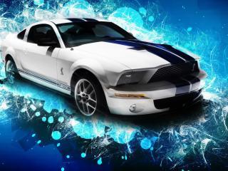 обои Машина на фоне графики фото