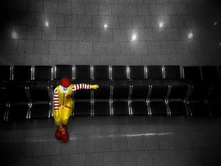обои Одинокий клоун фото