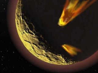 обои Кометы движутся на Луну фото