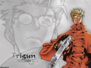 обои Триган (Trigun) - с пушкой фото