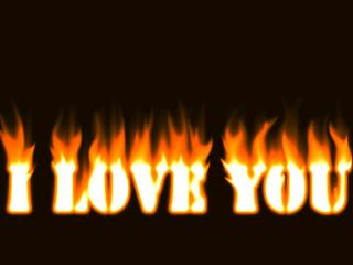 обои Fire LOVE фото