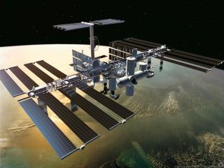 обои Космическая станция фото