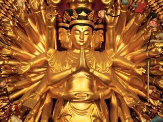 обои Buddhist Temple, Shanghai, China фото