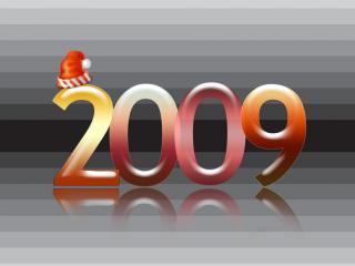 обои Надпись 2009 год фото