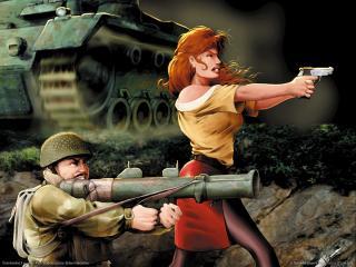 обои Commandos 2 - Стрельба по врагу фото