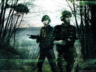 обои Conflict Zone - В лесу фото