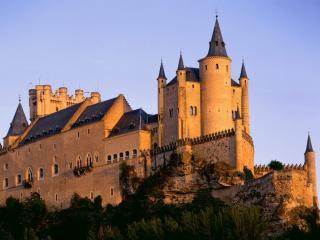 обои Замок на закате фото