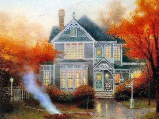 обои Осень на даче фото