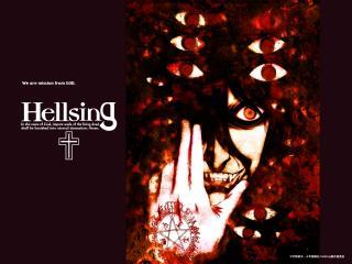 обои для рабочего стола: Hellsing - глаза