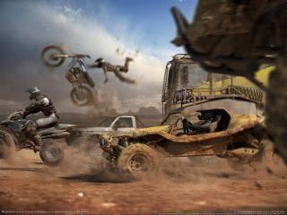 обои MotorStorm - Отчаянный байкер фото