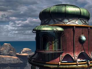 обои Myst 3: Exile - Крыша башни фото