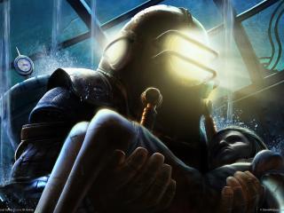 обои Bioshock - в маске фото
