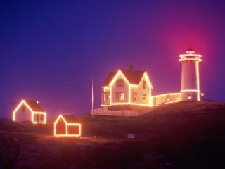 обои Nubble Lighthouse, Maine фото