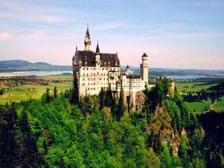 обои Замок на скале фото