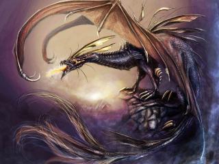 обои Рассерженный дракон фото