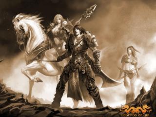 обои Legends - всадница и воин фото
