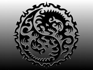 обои Знак дракона Инь-Янь фото