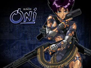 обои Oni - вооруженная до зубов фото
