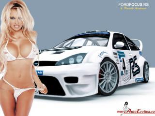 обои Ford Focus RS & Pamela Anderson фото