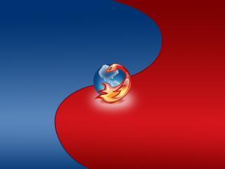 обои Firefox красно-синий фото