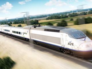 обои Визуализация скоростого поезда TGV фото