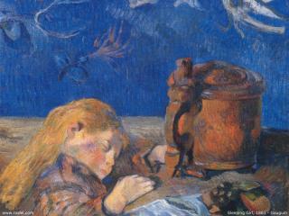 обои Gauguin - Sleeping Girl фото