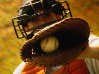 обои Уловитель бейсбола фото